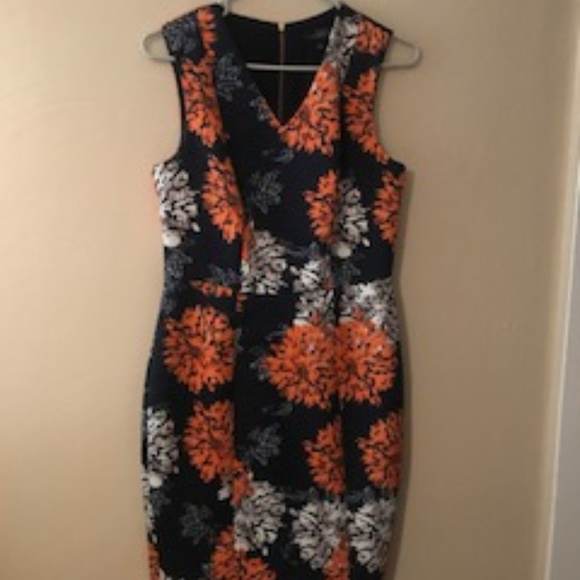 96c2df790 The Limited Dresses | Orange And White Flowerburst Dress | Poshmark